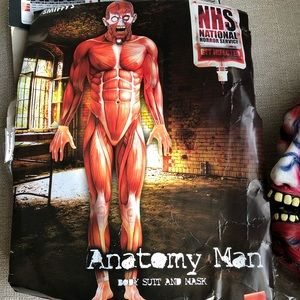 Other - Anatomy Man NHS Costume - Mask & Muscle Bodysuit